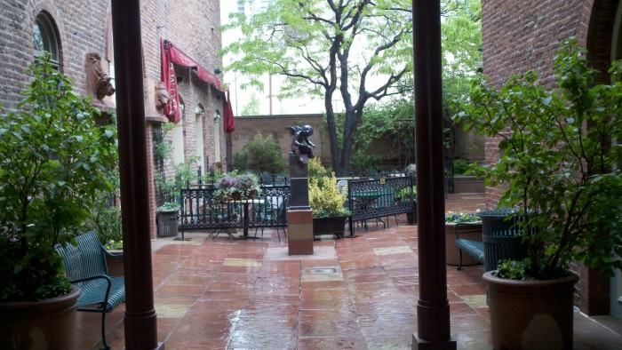 Bistro Vendome courtyard in Larimer Square.