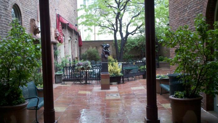 Bistro Vendome courtyard in Larimer Square.