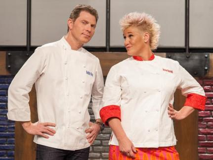 """Anne Burrell and Bobby Flay star in Food Network's """"Worst Cooks in America."""""""
